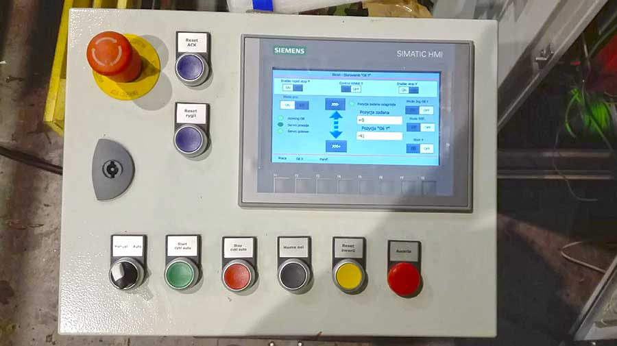 panel sterowania manipulatorem automatytcznym